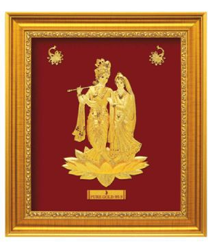 Radhakrishna-in-pure-gold-artwork.
