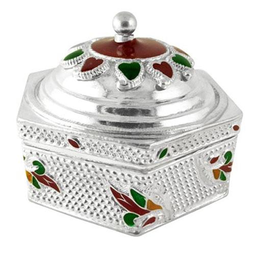 Silver-Kumkum-Dabi