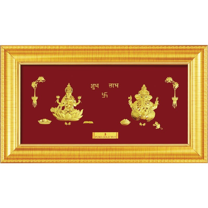 laxmi-ganesha-frame-in-pure-gold-sheet-artwork
