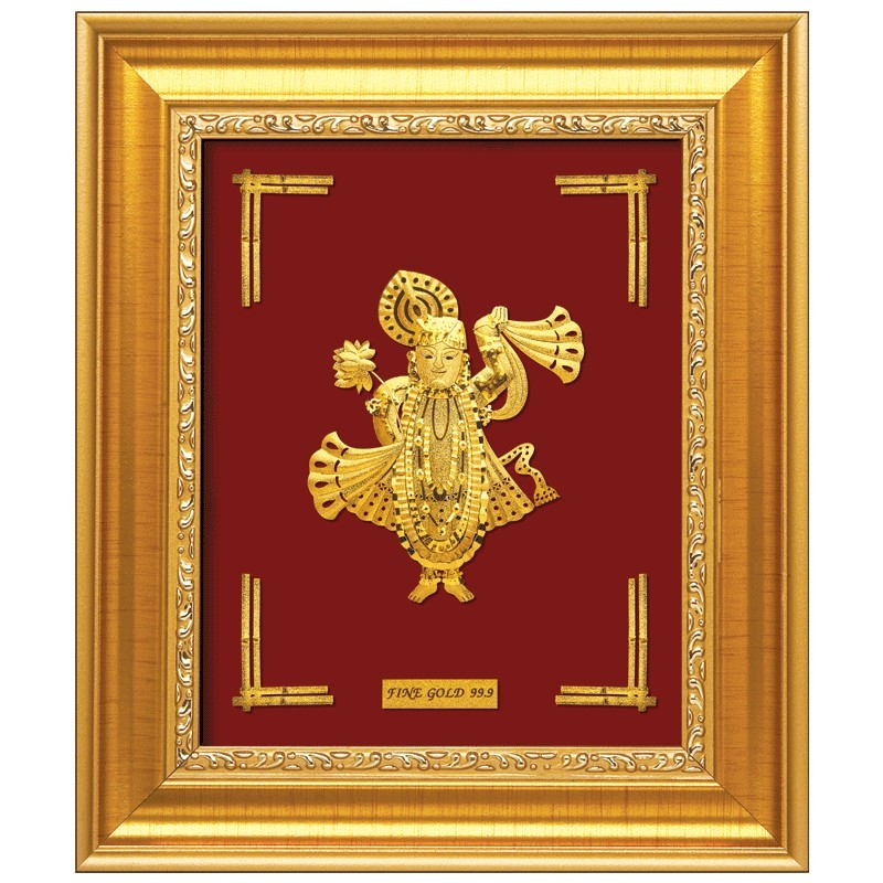 shreenathji-frame-in-24-karat-pure-gold-sheet-artwork